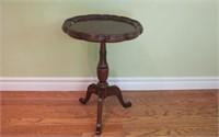 """Walnut  Pedestal Table 15"""" X 21"""" Tall"""
