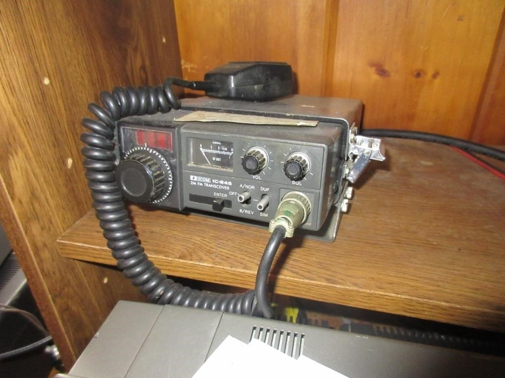 Icon IC-245 fm transceiver | Baer Auctioneers - Realty, LLC
