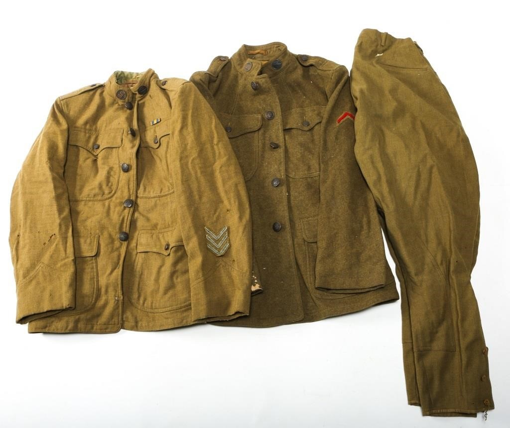 WWI US ARMY DOUGHBOY UNIFORM LOT   Centurion Auctions LLC