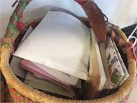 Basket & assorted contents