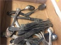 Assorted flatware
