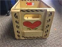 "Wood crate. 15""x10""x9"""