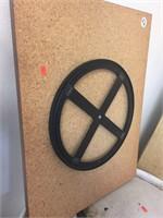 """Plastic barrel. 23"""" diameter x 35"""" tall"""