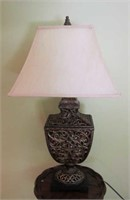 "Ornate Table Lamp With Shade 33"" Tall"