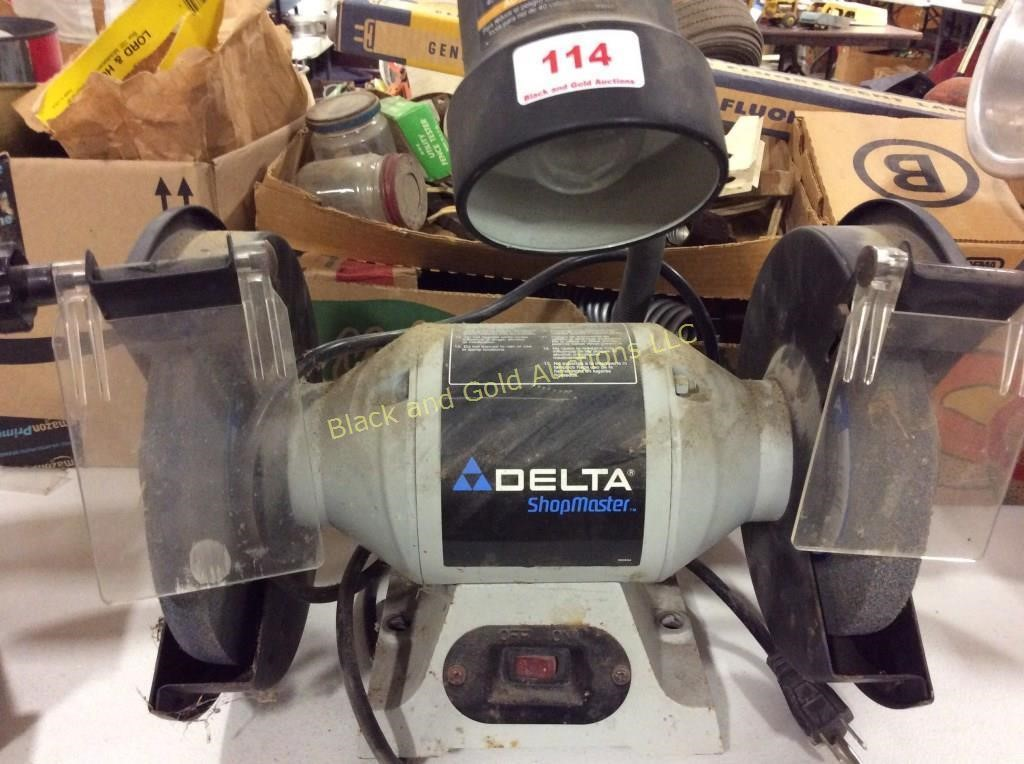 Delta Shopmaster 8 Bench Grinder Black And Gold Auctions Llc