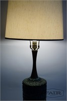 Large lamp with green and blue textured base