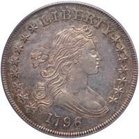 $1 1796 LG DATE, SM LETTERS. PCGS AU58 CAC