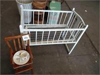 High Chair and Crib