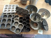 Bundt pans, muffin tins and cast iron