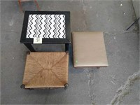 Side table and footstools