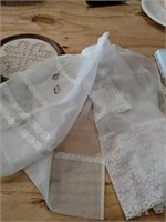 Needlework and crocks
