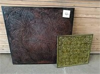 Metal wall and ceiling tiles