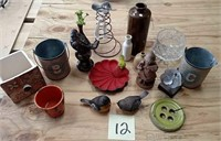 Birds, planters, and garden collection