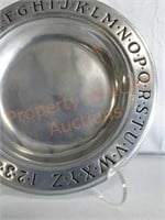 Pewter Children's Bowl and Cup