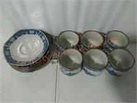 Blue & White Japan Coffee/ Tea Cup Set