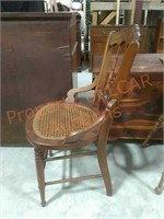 Vintage Oak Open Arm Chair