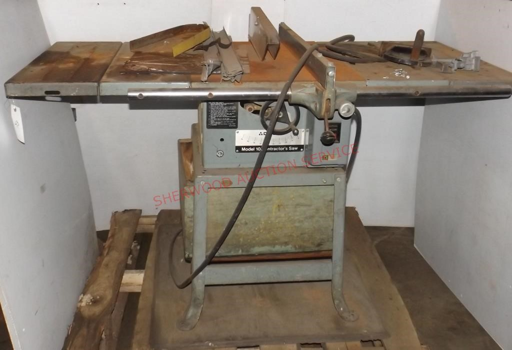 Delta Model 10 Contractor Table Saw Sherwood Auction