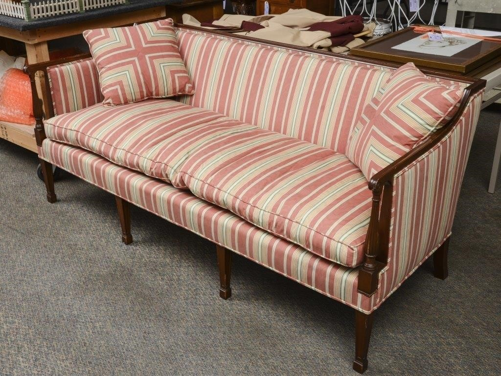 Nice Sofa With Striped Upholstery