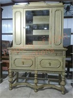 Vintage Painted China Cabinet