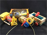 VINTAGE WOODEN FISHER PRICE TOYS W/ FUNGLASSES