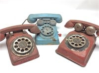 VINTAGE ROTARY HILL TOYS, TOY TELEPHONES