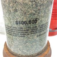 VINTAGE PLANTERS JARS & $100,000 OF SHREDDED MONEY