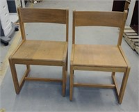 #23 Wide Seat Solid Wood Chairs (set of 6) $25.00
