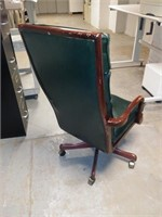 #34 Cherry & Green Padded Executive Chair  $15.00