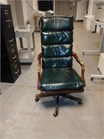 #35 Cherry & Green Padded Executive Chair  $10.00