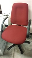#63 Maroon Fabric Office Chair $15.00