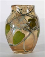 Rare Tiffany Favrile Paperweight Vase