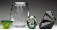 Selection of Studio art glass.