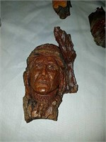 Collection folk art wood carvings