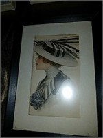 Collection of vintage fashion prints