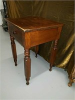 Antique table with one drawer