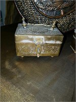 Old scale, brass covered boxes and more
