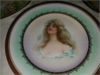 Hand-painted antique porcelain dishes