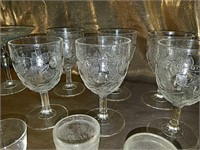 Etched and painted stemware collection
