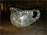 Antique cut crystal glassware set