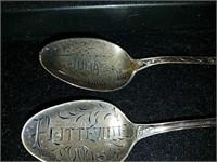 5 sterling silver spoons Platteville Wisconsin