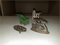 Antique cast iron toy collection