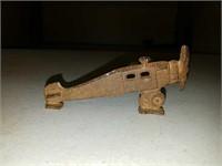 Antique cast iron airplane and Men
