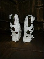 Pair vintage Staffordshire dogs