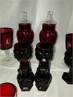 Antique ruby red glassware