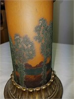 Antique hand-painted lamp