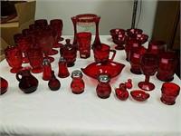 Viking, Mikasa red glassware.
