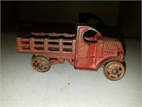 Antique cast iron delivery truck toy