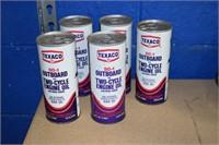 Texaco Outboard Motor cans