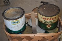 Texaco Rustproof Metal Cans