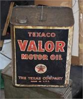 1930's Texaco Valor Motor oil can